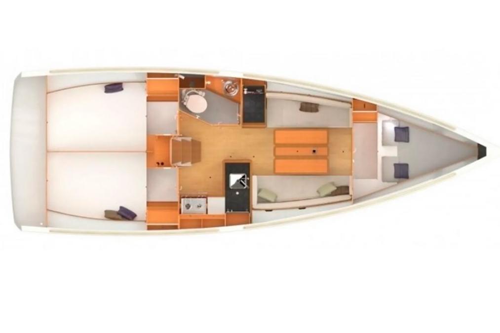 Планировка яхты